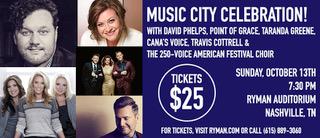 Music City Celebration at The Ryman!